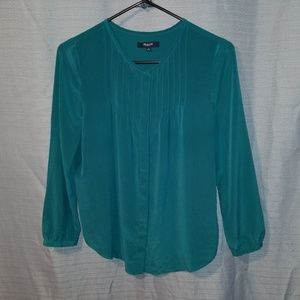 Madewell Silk Button Down Shirt Size S